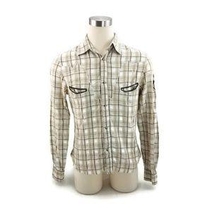 XRAY Mens Distressed Western Shirt PRIMEX Plaid!.